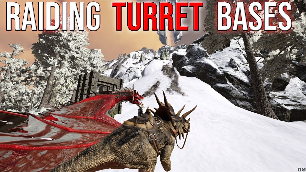 EASY PROFIT FROM HEAVY TURRET BASES - ARK 3-MAN PVP SERVERS SOLO #3