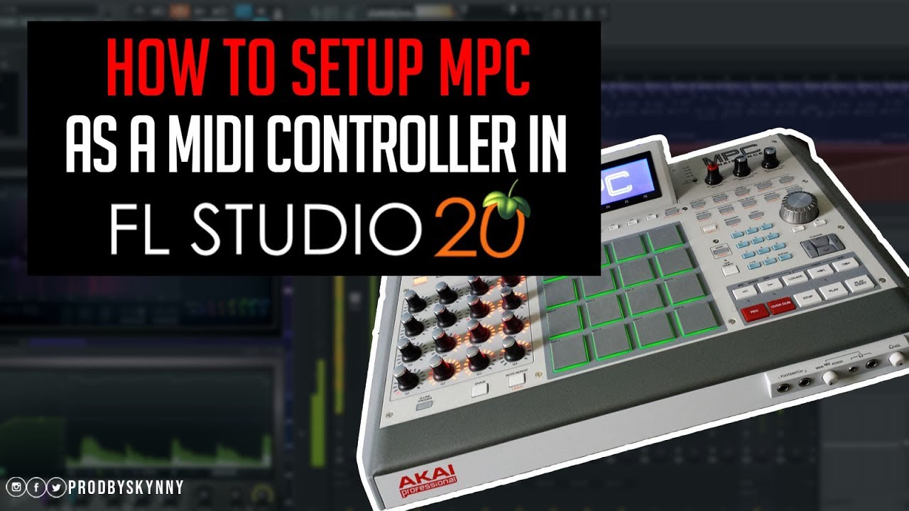 How To Setup MPC As Midi Controller in FL Studio 20 [ Fl 20 Tutorial ]