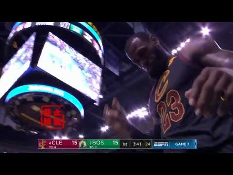 LeBron James Stares Down Paul Pierce After Shows Celtics He Is The King!