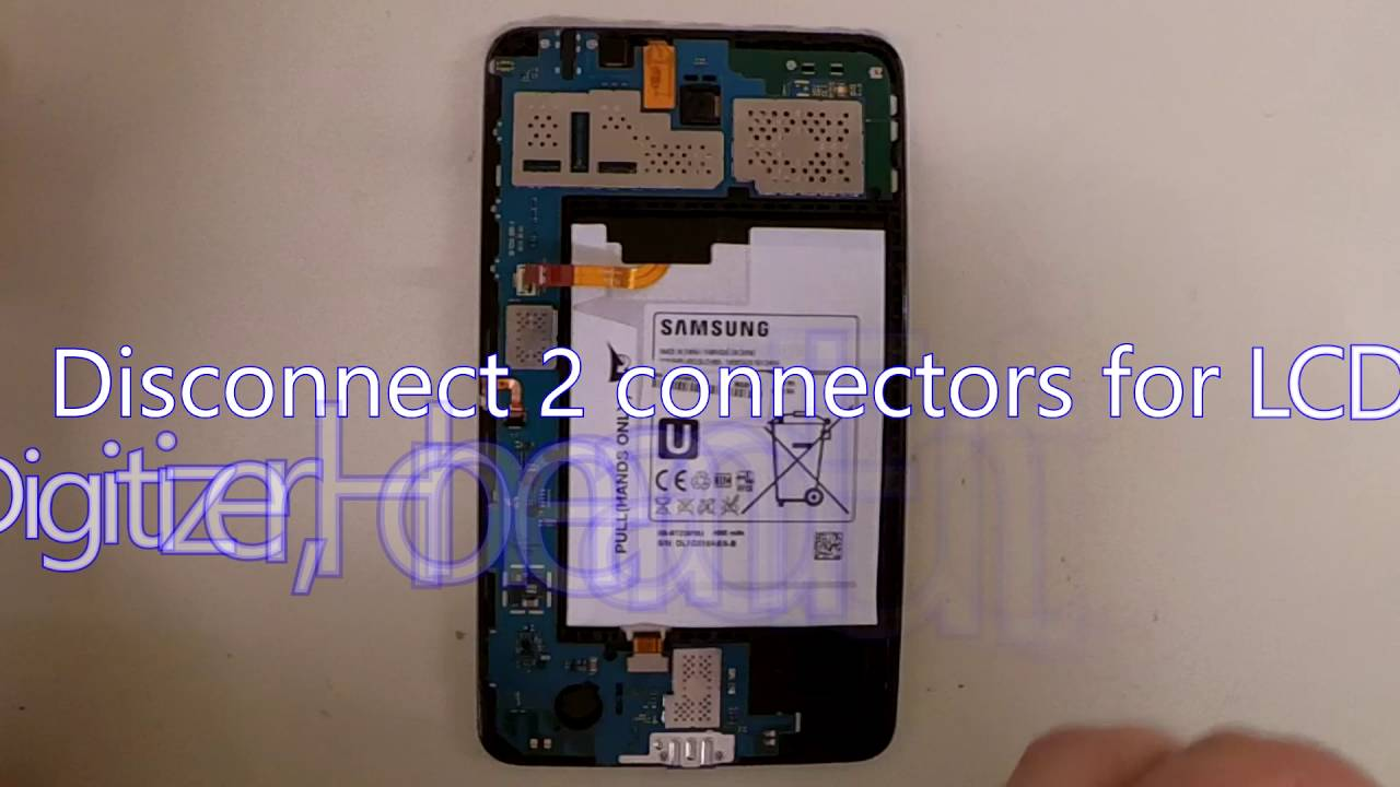 Samsung Galaxy Tab 4 SM-T230NU Disassembly for Motherboard or