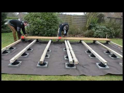 4 heures pour poser une terrasse bois sur plots - Ma Terrasse Facile - Comment Poser Une Terrasse Bois