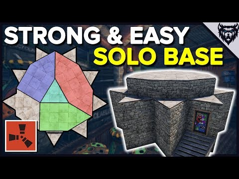 RUST - The SOLO Stronghold - Rust Solo Base Design (2019)
