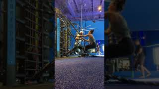 Functional Fitnes Interval Circuit HIIT Training With Resistance Bands and Ropes