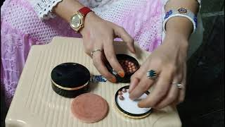 Swatches & Demo video of Giordani Gold bronzing-blushing pearls by Oriflame😊