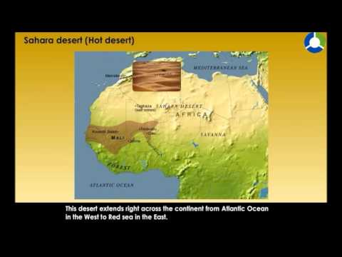 Where is the location of the sahara desert
