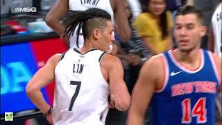 Jeremy Lin's Offense & Defense Highlights 2017-10-08 Nets vs Knicks
