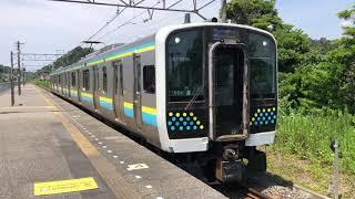 E131系0番台マリR04編成那古船形発車