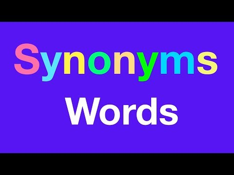 Synonyms Words - ESL - Synonyms For Kids - English Vocabulary Words With Examples