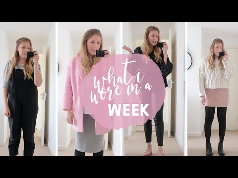 WHAT I WORE IN A WEEK | WITH KATIE ELLISON!