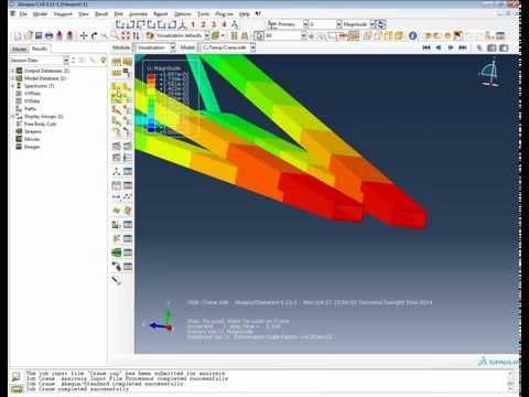 FEA Analysys Abaqus: Cargo Crane Tutorial- Beam element