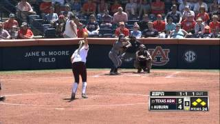 Auburn Softball vs Texas A&M Game 2 Highlights