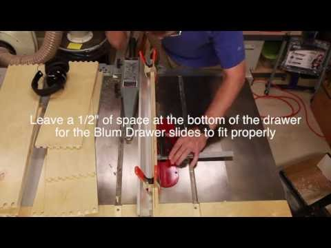 How to Make Drawers for the Blum Drawer Slides