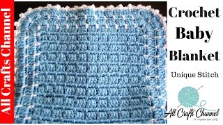 Easy to Crochet Blanket - UNIQUE look - Yolanda Soto Lopez