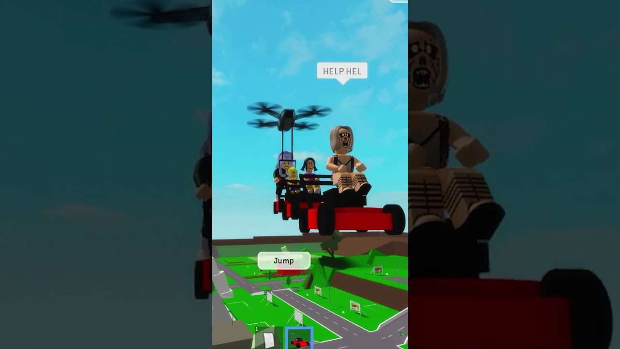 HOW TO KILL KAREN IN THE SKY WHEN YOU FLY In Brookhaven (Roblox Hack) #shorts