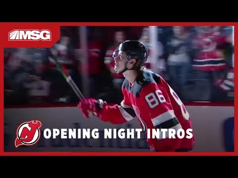 New Jersey Devils Opening Night Introductions