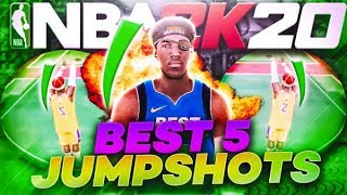TOP 5 BEST JUMPSHOTS IN NBA 2K20 • BEST JUMPSHOTS FOR ALL BUILDS! NEVER MISS AGAIN - JUMPSHOT TIPS
