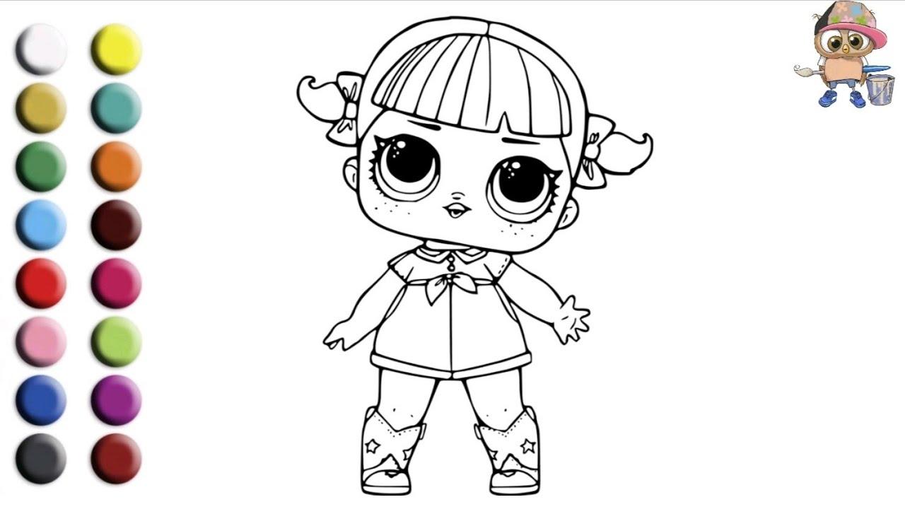 Раскраска для детей КУКОЛКА ЛОЛ /LOL PUPPET. Мультик ...