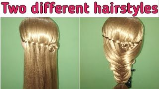 Unique hairstyles || two different hairstyle for different girls ||