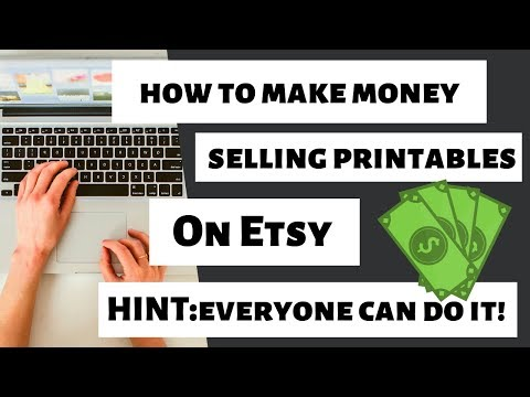 HOW TO MAKE PASSIVE INCOME ON ETSY SELLING PRINTABLES - WHAT CAN I SELL ON ETSY TO MAKE MONEY??