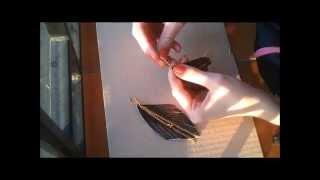 DIY easy leather  black & gold earrings / Направи си сам обеци от кожа