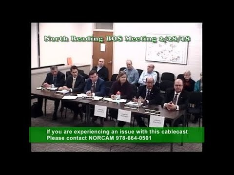 North Reading MA Board of Selectmen Meeting 02/28/18