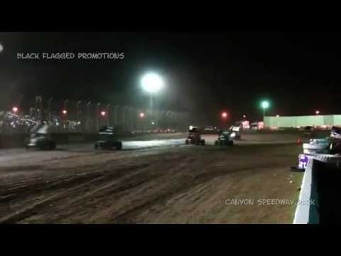 Canyon Speedway Park- Wing Sprint Main March 14th 2015