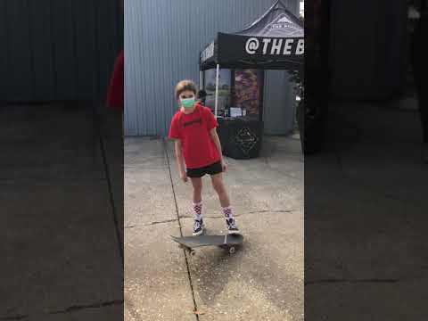 A Father and Daughter Skateboarding Family at Grind for Life Series