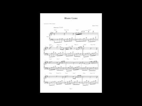 Blame Game - Kanye West - Piano Solo