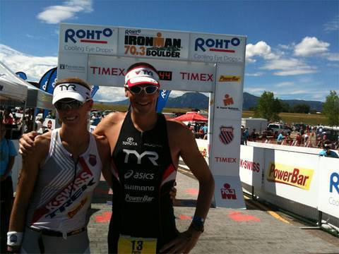 Julie Dibens waits for 5 minutes before crossing finish line and winning Ironman 70.3 Boulder
