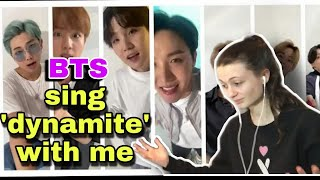 Download lagu Reaction to BTS (방탄소년단) Sing 'Dynamite' with me (feat. Big Hit Labels) BIG HIT KILLING IT !!!