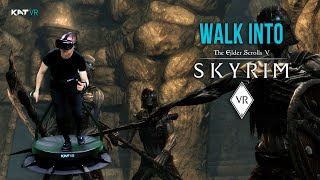 Walk Into Skyrim VR on KAT Walk C - First Personal VR Treadmill