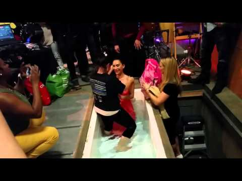 Marina's Baptism - Getting Dunked!