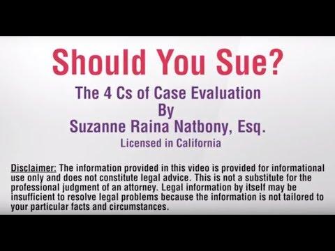 Should You Sue?