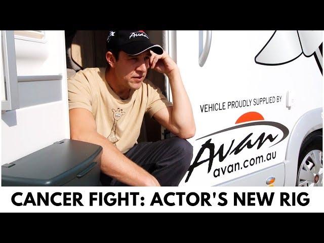 Actor Samuel Johnson's Motorhome For Cancer Awareness