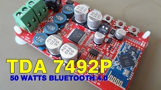 PLACA AMPLIFICADORA TDA 7492P 2X50 WATTS - BLUETOOTH 4.0