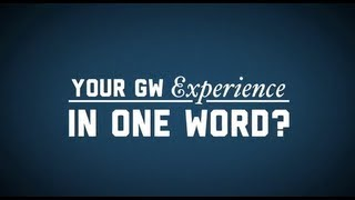 George Washington University in One Word
