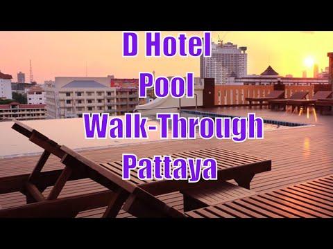 D Hotel, Pattaya – Swimming pool walk through
