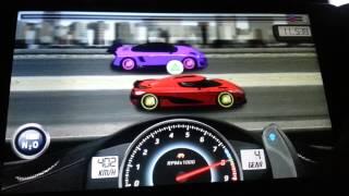 Repeat youtube video Drag Racing 11.873 TUNE level 9 1/2 Koenigsegg AGERA R