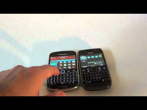 Nokia E6 versus BlackBerry Bold Touch 9930 (Design and hardware)