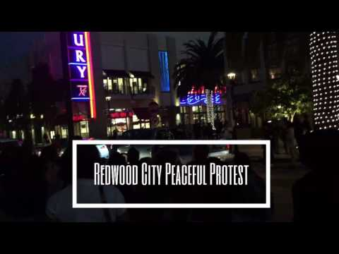 Redwood City CA Downtown Protest