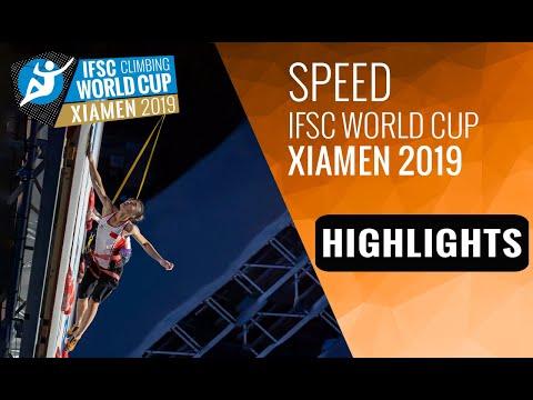 IFSC Climbing World Cup Xiamen 2019 - Speed - Highlights