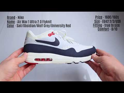 Unboxing Nike Air Max 1 Ultra 2 0 Flyknit Obsidian Youtube