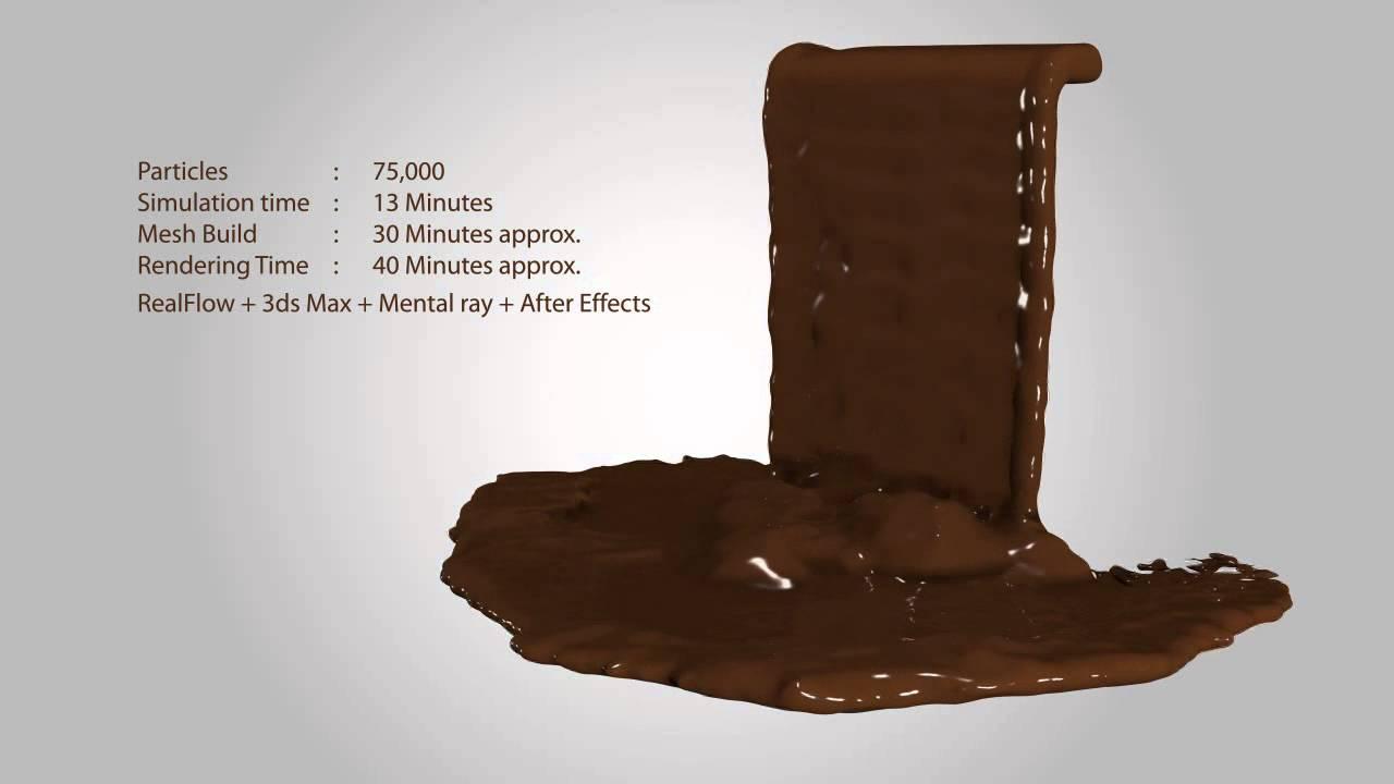 Realflow Chocolate Waterfall Realflow 3ds Max Mental