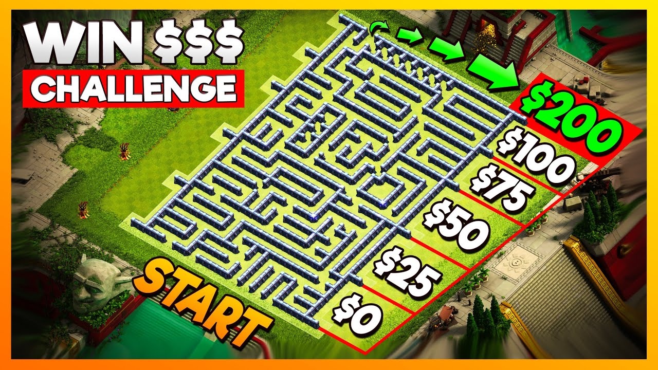 Finish THIS MAZE and Win $200 - Clash of Clans Challenge