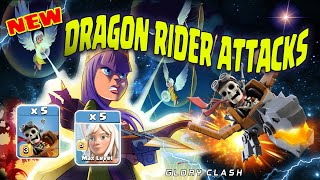 **New style* Th14 Dragon Rider Attack Strategy of 3 Stars / New Summer Update /Clash of clans 龙骑士