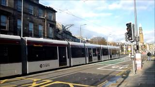 Edinburgh trams day tests in the City Centre 26th and 27th February 2014