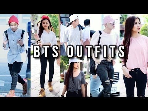 K-LOOK | BTS INSPIRED AIRPORT OUTFITS | OnlyKelly