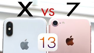 iPhone 7 Vs iPhone X On iOS 13! (Speed Comparison) (Review)