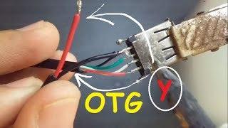 Como fazer cabo OTG Y e OTG Normal