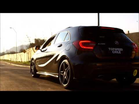 Mercedes-Benz A200 | Acceleration, details, sound in tunnel, onboard and more ! | TopSpeed Chile
